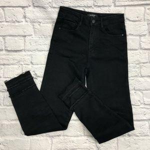 Black Label high waist black skinny pants 29
